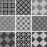 S?ml?s kontrollerad modellupps?ttning geometriska texturer vektor illustrationer