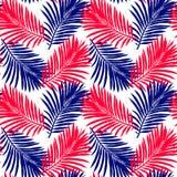 S?ml?s modell av tropiska sidor seamless vektor f?r modell tropisk illustration Djungell?vverk royaltyfri illustrationer