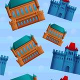 S?ml?s modell f?r h?rlig tecknad film p? temat av slottar royaltyfri illustrationer
