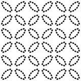 S?ml?s modell med ovals av prickiga linjer Vektorbakgrund i svartvitt stock illustrationer