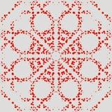 S?ml?s modell med prickiga cirklar arkivbild