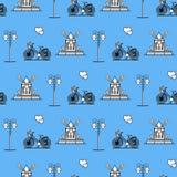 S?ml?s modell med v?derkvarnen, cykel, lykta vektor illustrationer
