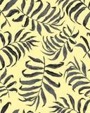 S?ml?s modell f?r tropiska palmblad royaltyfri illustrationer