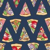 S?ml?sa pizzaskivor royaltyfri bild