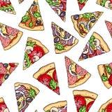 S?ml?sa pizzaskivor arkivfoto