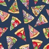 S?ml?sa pizzaskivor arkivfoton