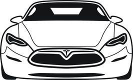 S modèle Tesla illustration stock