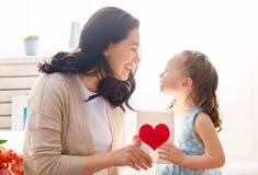Ημέρα της ευτυχούς μητέρας στοκ εικόνα με δικαίωμα ελεύθερης χρήσης