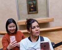 ` S Mona Лиза Леонардо Да Винчи на жалюзи Museumn Стоковая Фотография RF
