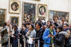 ` S Mona Лиза Леонардо Да Винчи на жалюзи Museumn Стоковое Изображение RF