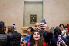 ` S Mona Лиза Леонардо Да Винчи на жалюзи Museumn Стоковое Фото