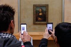 ` S Mona Лиза Леонардо Да Винчи на жалюзи Museumn Стоковое Изображение