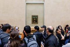 ` S Mona Лиза Леонардо Да Винчи на жалюзи Museumn Стоковое фото RF