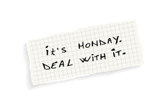 It's Monday. Deal with it. Royalty Free Stock Images