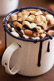 S'mores hot chocolate mini marshmallows cinnamon winter drink Royalty Free Stock Photo