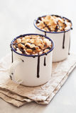 S`mores hot chocolate mini marshmallows cinnamon winter drink Royalty Free Stock Photography