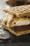 S'mores with Marshmallows Chocolate and Graham Crackers Royalty Free Stock Image