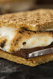 S'mores with Marshmallows Chocolate and Graham Crackers Stock Photography