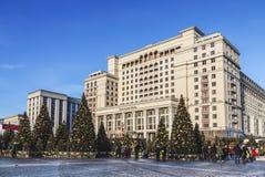 ` S Moscú del Año Nuevo Viaje del ` del festival al ` de la Navidad Bosque de hadas en el cuadrado de Manege Imagen de archivo