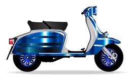 60s Motor Scooter On White. A typical 1960 style motor scooter over a white background vector illustration