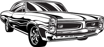 1960s Muscle Car. Illustration of a 1960s muscle car Stock Photos
