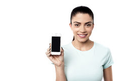 It's my new smart phone ! Royalty Free Stock Photos