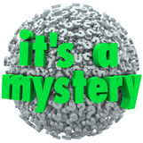 It's a Mystery Question Mark Ball Uncertainty Unknown Royalty Free Stock Image