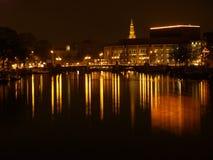 's nachts Amsterdam Royalty-vrije Stock Foto's