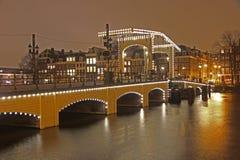 's nachts Amsterdam Stock Fotografie