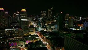 's nachts Bangkok stock footage