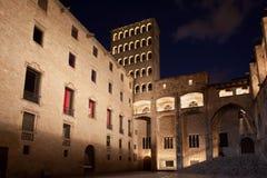 's nachts Barcelona Royalty-vrije Stock Foto's