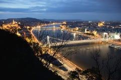 's nachts Boedapest Stock Foto