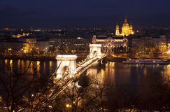 's nachts Boedapest Stock Afbeelding