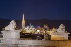 's nachts Boedapest Royalty-vrije Stock Foto's