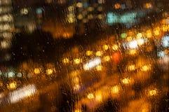 's nachts Boekarest Stock Fotografie
