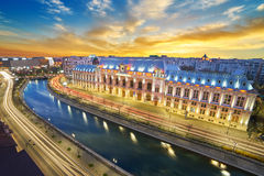's nachts Boekarest Stock Foto's
