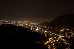 's nachts Brasov royalty-vrije stock fotografie