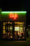 's nachts cafetaria Royalty-vrije Stock Foto's