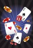 's nachts casino Stock Afbeeldingen