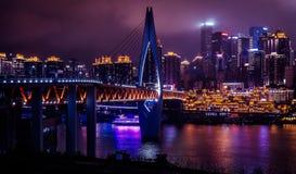 's nachts Chongqing royalty-vrije stock foto's