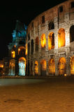 's nachts Coliseum Royalty-vrije Stock Foto's