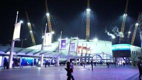 's nachts de Arena van O2 van Londen stock video