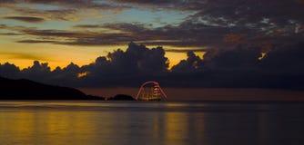 's nachts de Baai van Patong Stock Foto's