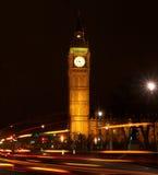 's nachts de Big Ben Stock Afbeeldingen