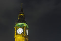 's nachts de Big Ben Stock Foto