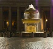 's nachts de Fontein van Vatikaan Stock Fotografie