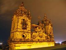 's nachts de Kerk van Salvador Stock Afbeeldingen