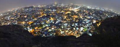 's nachts de stad van Jodhpur Stock Afbeelding