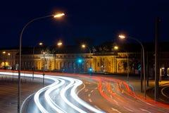 's nachts de stad van Potsdam Stock Afbeeldingen