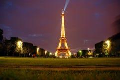 's nachts de toren van Eiffel Royalty-vrije Stock Fotografie